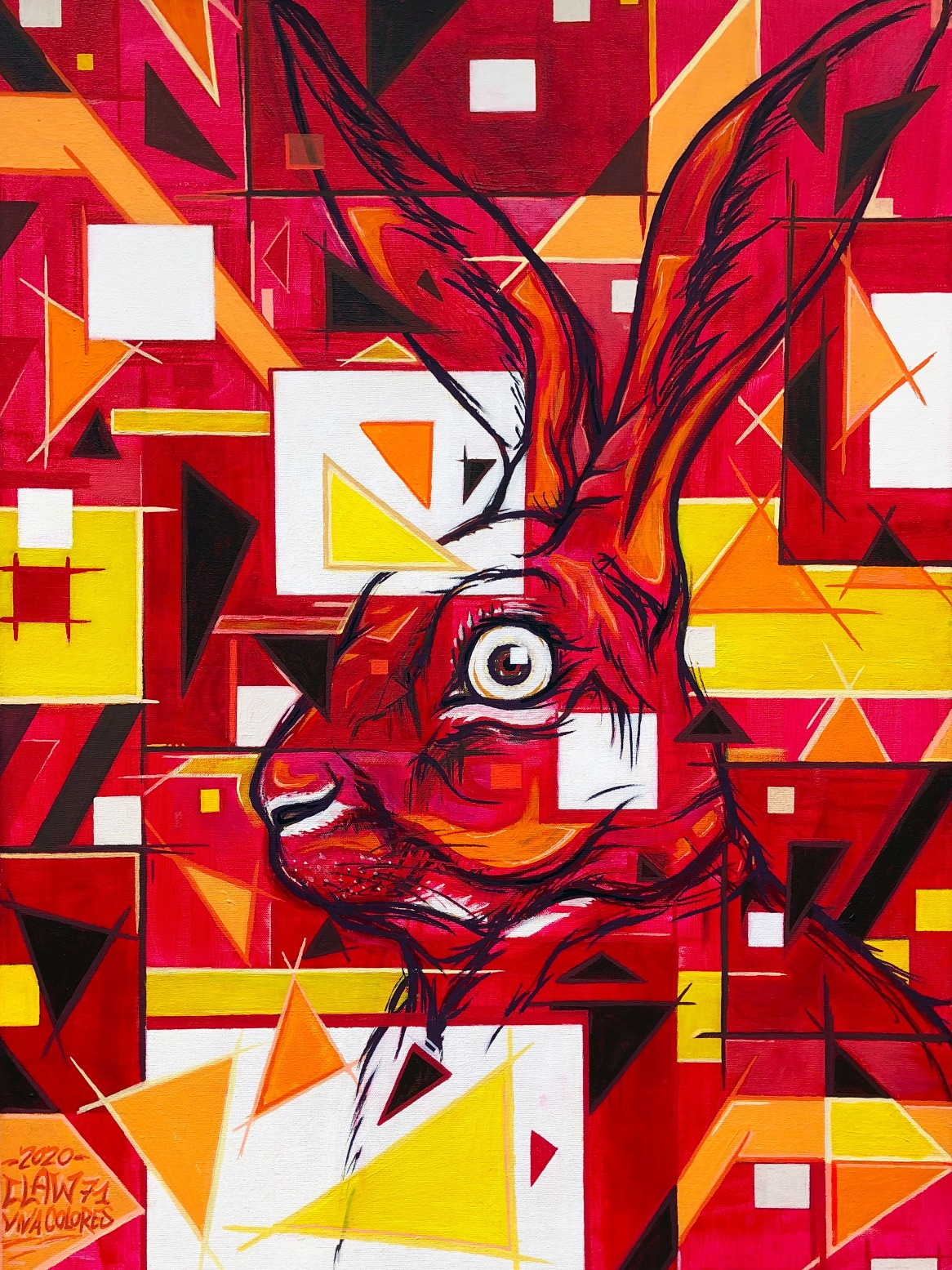 artigall: Rabbit-Resolution Kunstwerk Detailansicht