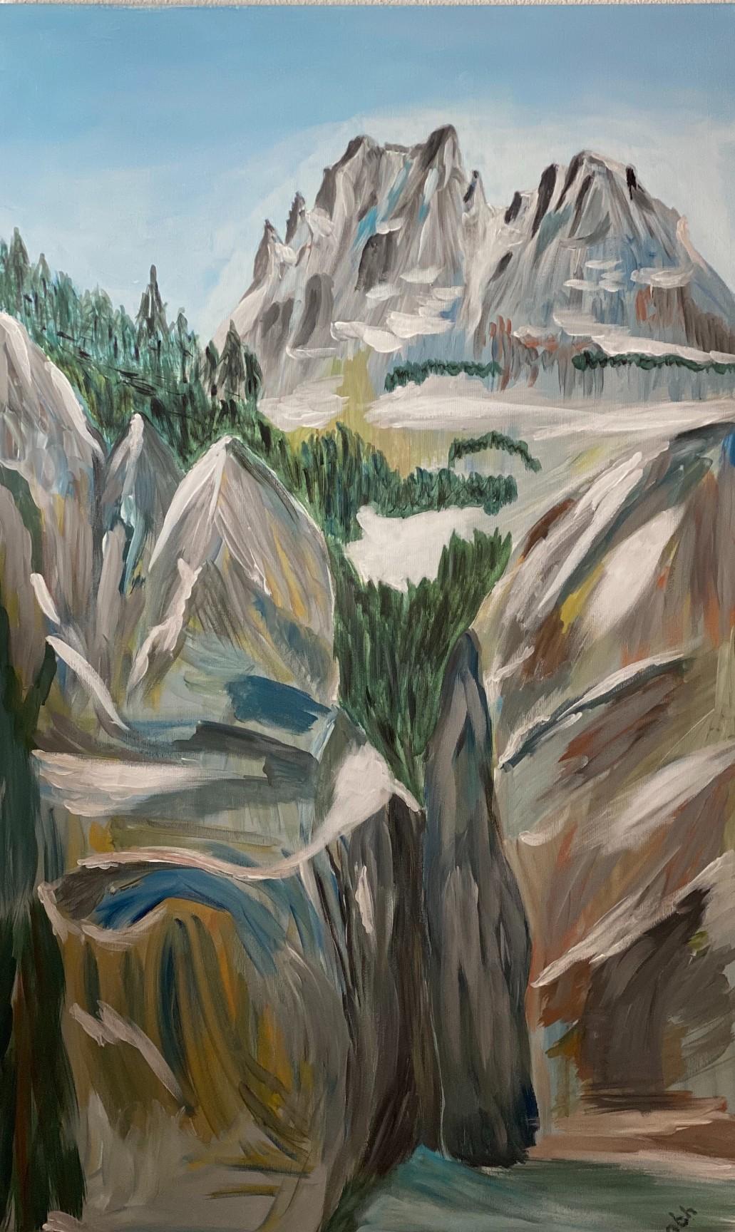 artigall: Grindelwald Gletscherschlucht Gemälde Gion Battesta Huonder