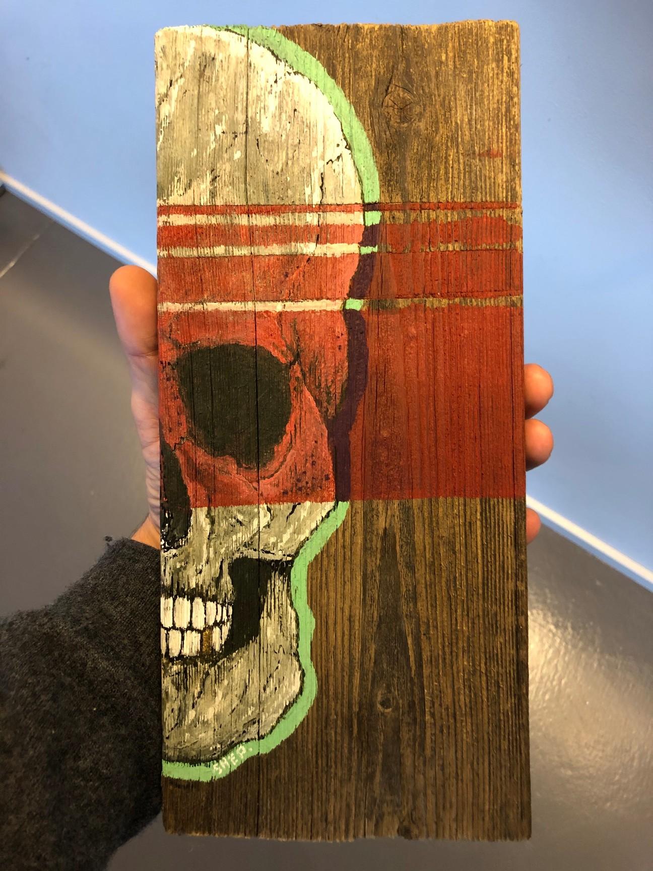 artigall: Skull Nerve Kunstwerk Detailansicht