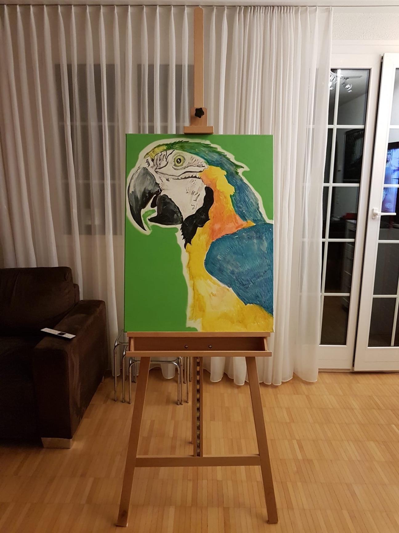 artigall: Ara Papagei Gemälde skywalker