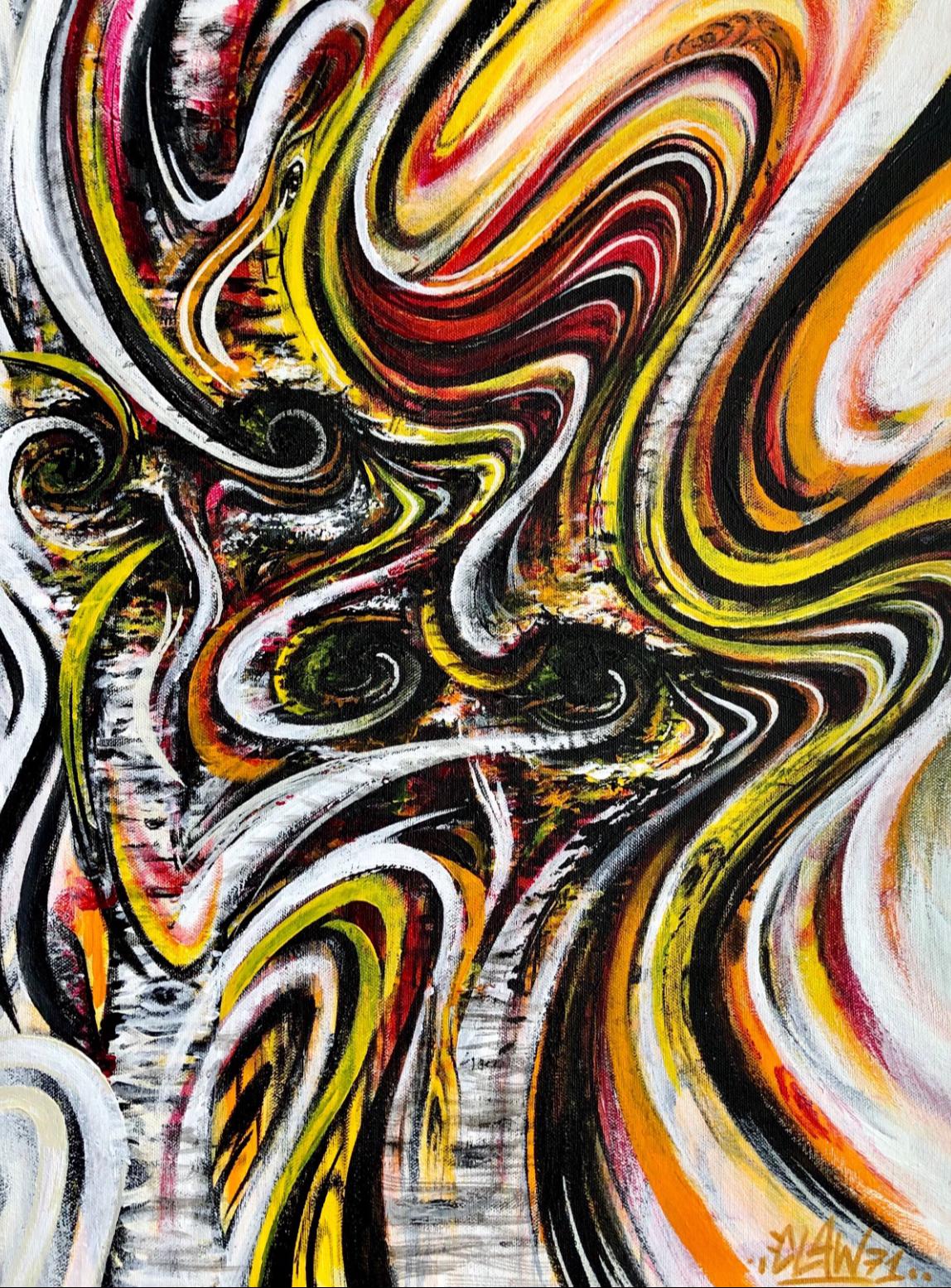 artigall: Colorwash Kunstwerk Detailansicht
